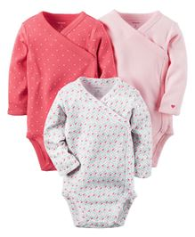 Carter's 3-Pack Long-Sleeve Side-Snap Bodysuits
