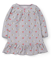 Carter's Full Sleeves Nighty  - Grey