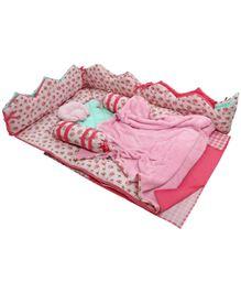 M&M Infant Baby Bedding Set Pink - Set Of 7