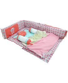 M&M Infant Baby Bedding Set Multicolor - Set Of 7 - 1120655