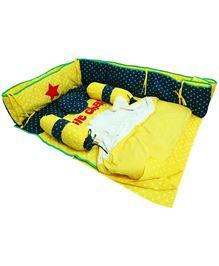 M&M Infant Baby Bedding Set Little Champ Print Yellow - Set Of 7