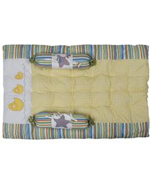 Babyoye Gadda Set Duck Embroidery White & Yellow - Set Of 3