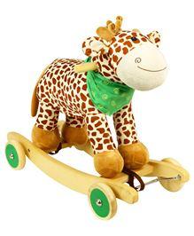 PlayNation Gigi Giraffe 2 in 1 Rocker Cum Ride On - Brown