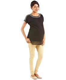 Kriti Western Maternity Woven Top - Black - 1122078