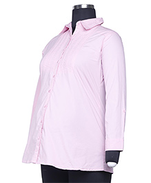 Kriti Full Sleeves Maternity Shirt - Pink