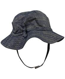 Babyoye Printed Cap With Velcro Strap - Navy Blue