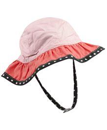 Babyoye Stripes Cap With Velcro Strap - Peach