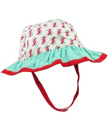 Babyoye Printed Cap With Velcro Strap - Multi Coloured