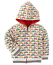 Babyoye Full Sleeves Hooded Sweater - Multicolor