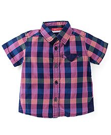 Fisher Price Apparel Half Sleeves Checkered Shirt - Multicolor