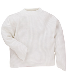 M&M Infant Round Neck Sweater - Off White
