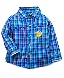 Fisher Price Apparel Full Sleeves Checkered Shirt - Blue