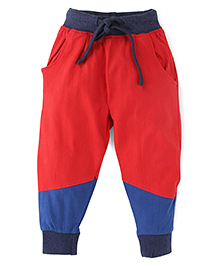 Oye Track Pants With Drawstring - Red Blue