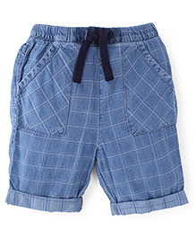 FisherPrice Shorts With Checks Print - Blue