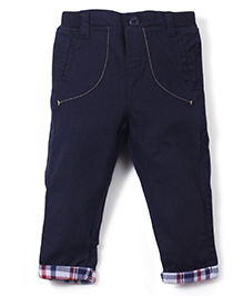 M&M Full Length Trousers With Detail - Navy