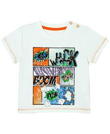 BabyPure T-Shirt With Artwork - White