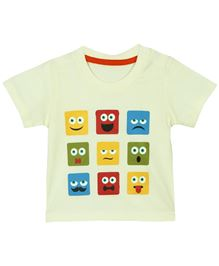 Baby Pure Half Sleeves Printed T-Shirt - Off White