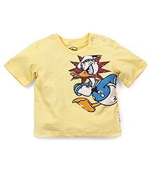 Babyoye Half Sleeves Donald Print T-Shirt - Yellow