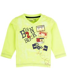 Babyoye Infant Full Sleeves T-Shirt With Print - Green