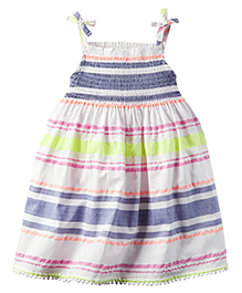 Carter's Smocked Neon-Striped Dress