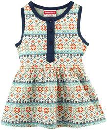 Fisher Price Apparel Printed Sleeveless Dress - Multi Coloured (6 - 12 M)