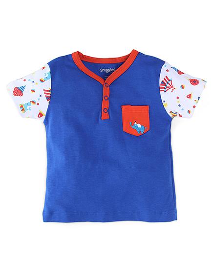 Snuggles Half Sleeves T-Shirt - Blue