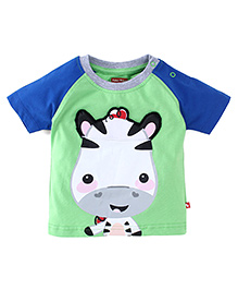 Fisher Price Apparel Half Sleeves T-Shirt - Blue Green