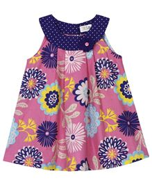 BabyPure Infant Dress With Floral Print - Pink