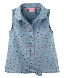 Fisher Price Apparel  Sleeveless Top With Bow - Blue