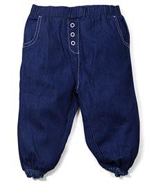 M&M Pull Up Denim Trouser - Blue