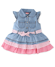 Fisher Price Apparel Short Sleeves Denim Dress - Blue