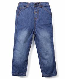BabyPure Full Length Washed Denim Jeans - Blue