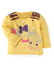 M&M Full Sleeves T-Shirt - Yellow