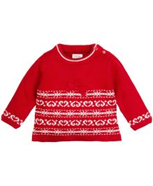 Babyoye Sweater With Detail - Red