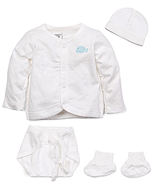 M&M Full Sleeves Baby Basic Multi Pieces Set Pack Of 6 - White