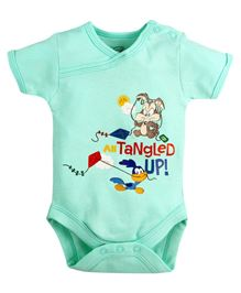 Warner Bros Half Sleeves Bodysuit - Light Blue