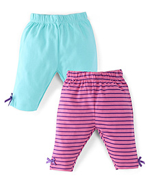 Snuggles Full Length Leggings Pack Of 2 - Blue Pink