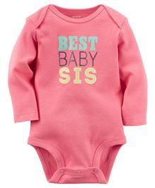 Carters Full Sleeves Bodysuit - Pink