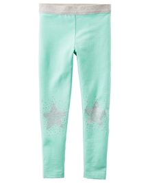 Carters Full Length Embellished Leggings - Mint Green