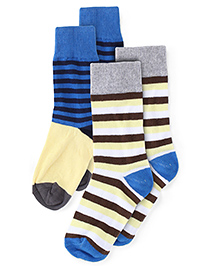 Babyoye Socks Pack Of 2 Pairs - Multicolor