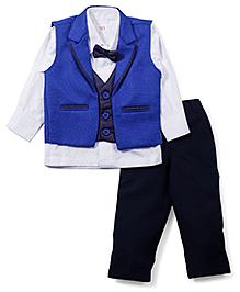 M&M 4 Piece Party Suit - White Blue Navy