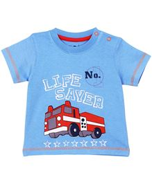Baby Pure Infant Boys T-Shirt With Print -  Light Blue