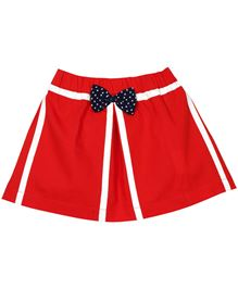 M&M Infant Skirt With Details - Red