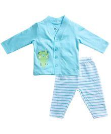 BabyPure Full Sleeves Nightwear Set - Blue