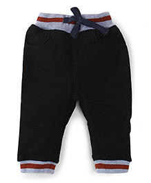 Ladybird Track Pants With Drawstring - Black