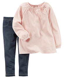 Carter's Infant Coordinate Set - Peach Blue