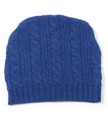 Babyoye Cable Knit Cap - Blue