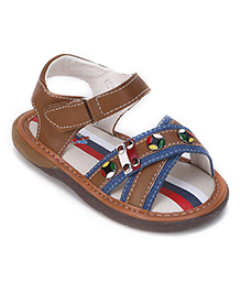 Clubs & Chicks Sandals With Velcro Closure - Brown