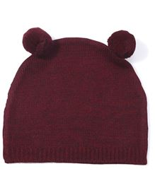 Babyoye Cable Knit Cap - Red
