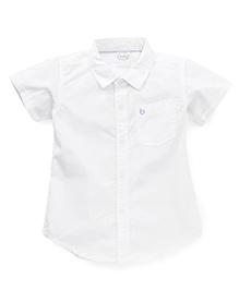 Babyhug Half Sleeves Solid Shirt - White